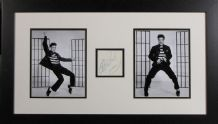 Elvis Presley Signed Autograph Display